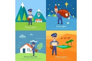 Delivery Service Vector Cartoon Web