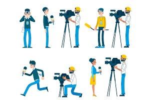 Vector man video reporter setting