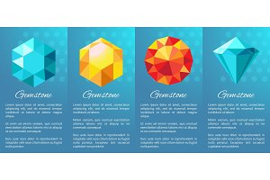 Gemstones Banner Collection on