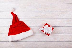 Santa hat with gift box