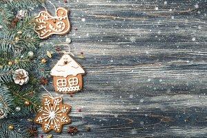 Christmas Frame Gingerbread cookies