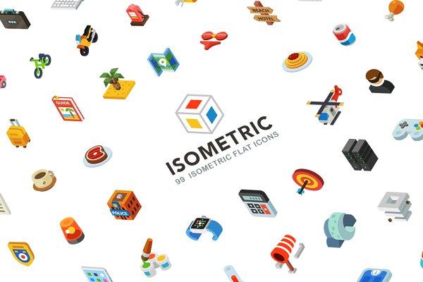 Isometric, 99 icon pack