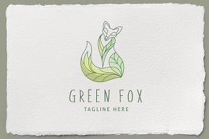 Green Fox Logo Template