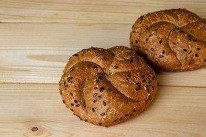 Buns of coarse flour