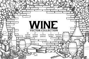 Graphic wine collection