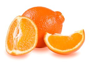 Mandarin or Mineola isolated on