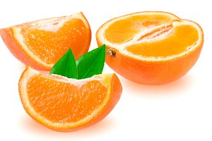 Mandarin or Mineola with leaf