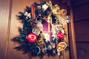 Christmas flowers rope decoration