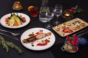 Tasty restaurant dishes