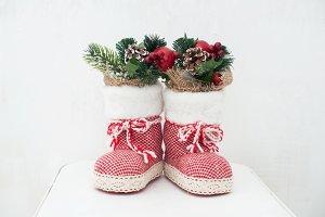 Christmas decoration: red Santa's