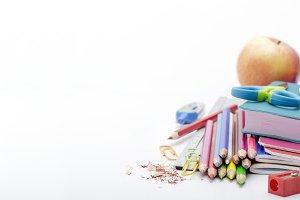 School supplies closeup