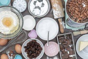Home baking kitchen table mockup