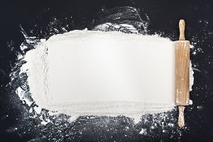 Flour and rolling pin header