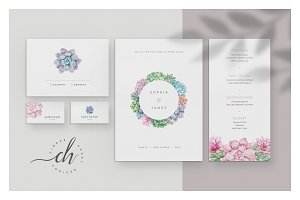 Quartz • Wedding Invitation Suite
