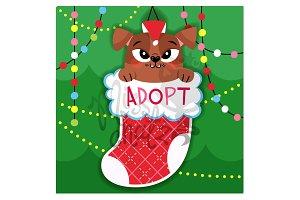 Xmas Dog Adopt