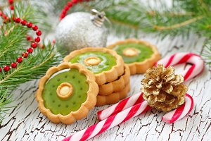 Christmas cookies with festive