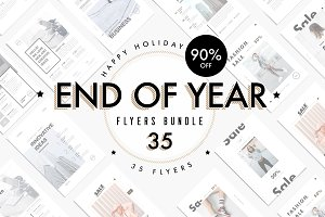 END OF YEAR - flyers bundle