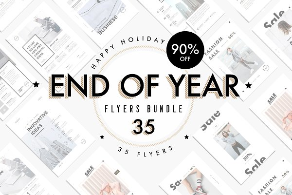 Flyer Templates: Marie T - END OF YEAR - flyers bundle
