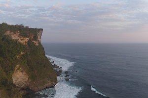 Rocks and sea Bali. Aerial view.