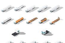 Trucks with semitrailers