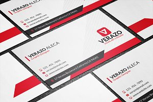 Modern Red Creative Business Card