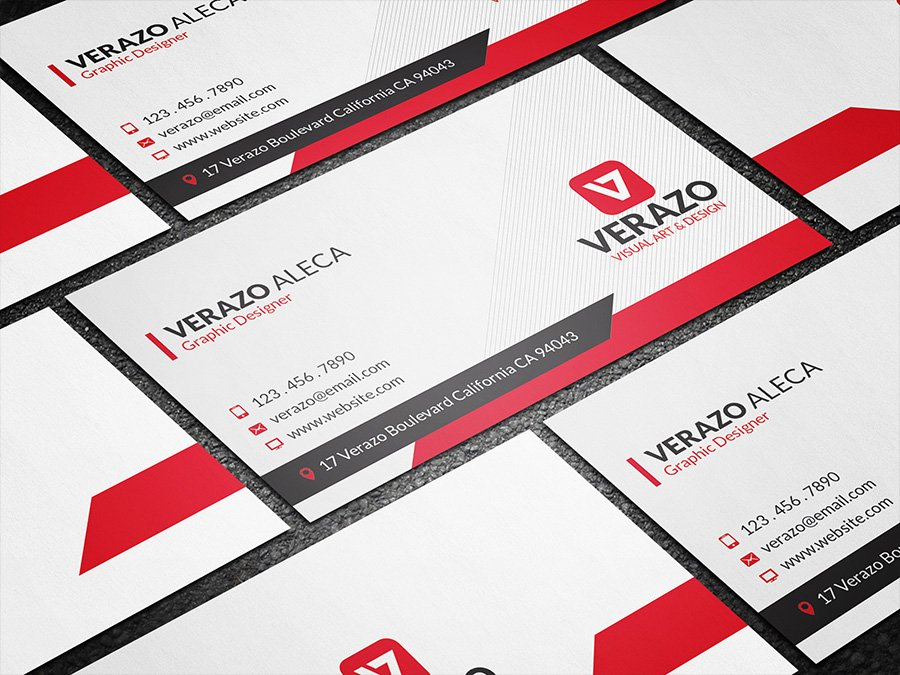 Modern red creative business card business card templates modern red creative business card business card templates creative market accmission Gallery