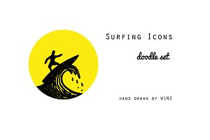 Surfing Icons EPS-JPEG-PNG
