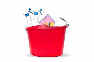 Hygiene cleaning items in plastic bu