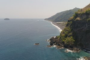 Tropical landscape, sea, beach