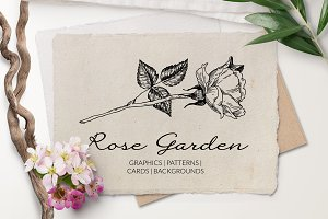Rose Garden. Botanical Graphics