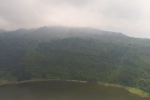 Lake in the mountains java indonesia