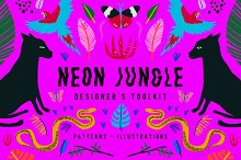 Neon Jungle by  in Patterns