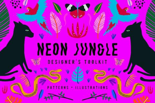 Graphics: Think Make Design - Neon Jungle
