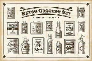 Retro Grocery Set One Color