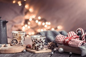 home comfort, details of the festive