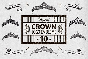 10 Elegant Crown Logo Emblems