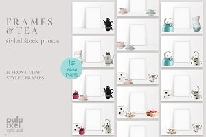 Tea & Frames - 24 Styled Stock Photo