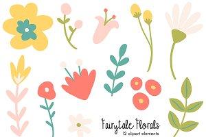 Fairytale Florals Clipart Bundle