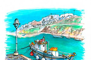 Harbour on Mykonos, Greece