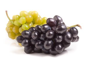 bunch of green and blue grape