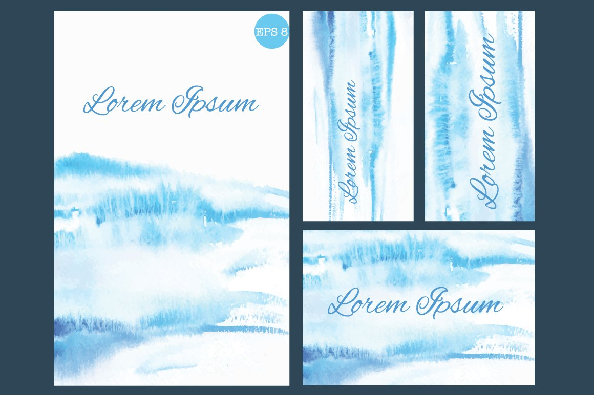 Set Of Business Cards Or Invitation