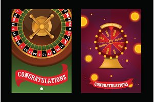 Fortune wheel vector spin game