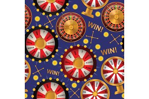 Fortune wheel seamless pattern