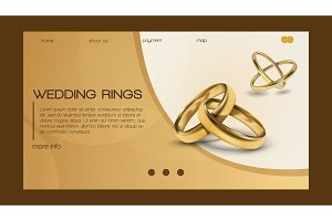 Wedding rings vector wed shop