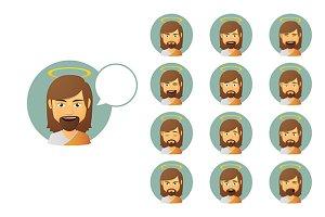 Jesus Christ Avatar Expressions Set
