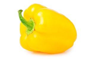 sweet yellow pepper isolated on