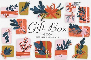 Gift Box Design Elements