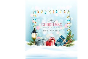 Holiday Christmas background. Vector
