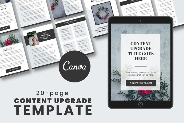 Content Upgrade Canva Template