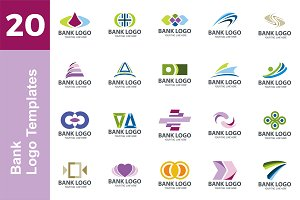 20 Logo Bank Templates Bundle